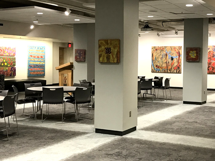installation shot/Hillmer Gallery, College of St. Mary